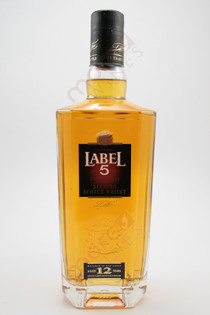 Label 5 Extra Premium 12 Year Old Blended Scotch Whisky 750ml