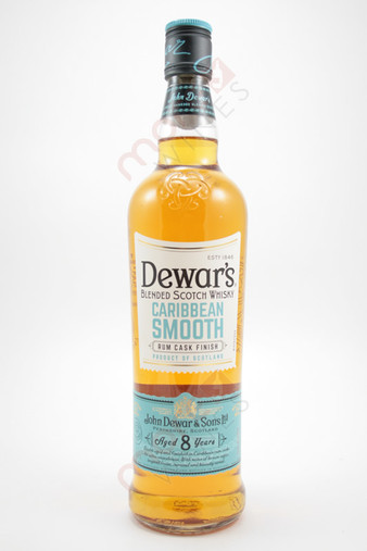Dewar's Caribbean Smooth Rum Cask Finish 8 Year Old Blended Scotch Whisky 750ml