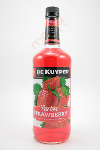 Dekuyper Strawberry Pucker Schnapps Liqueur 1L