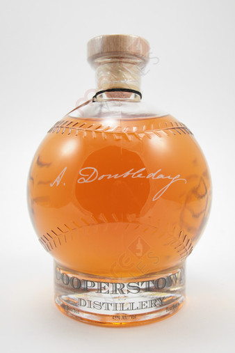 Cooperstown Distillery A. Doubleday's Baseball Bourbon Whiskey 750ml