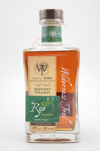 Wilderness Trail 'Settler's Select' Single Barrel Kentucky Straight Rye Whiskey 750ml