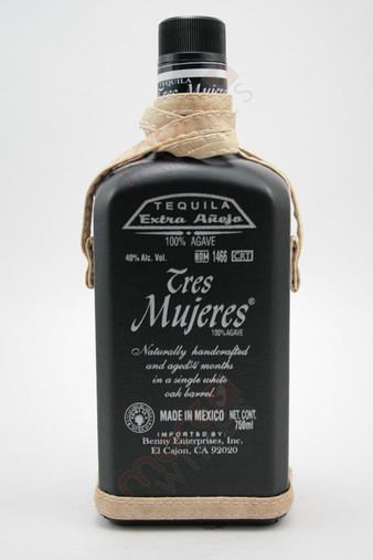 Tres Mujeres Tequila Extra Anejo Black Bottle 750ml