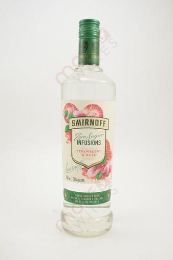 Smirnoff Zero Sugar Infusions Strawberry & Rose Vodka 750ml