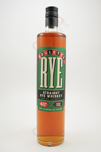 Roulette 4 Years Old Straight Rye Whiskey 750ml