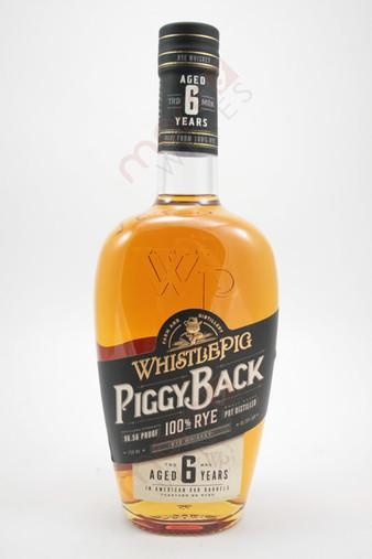WhistlePig Farm 'Piggy Back' 6 Year Old Rye Whiskey 750ml