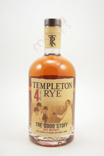 Templeton Rye The Good Stuff 4 Year Old Rye Whiskey 750ml