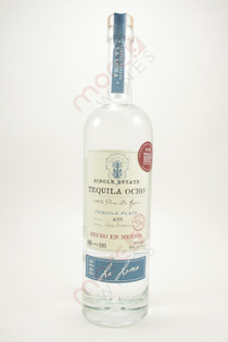 Tequila Ocho Single Estate Plata 750ml