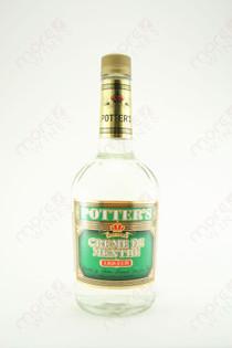 Potter's Creme de Menthe White Liqueur 750ml