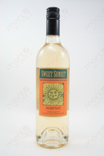 Sweet Sunset Golden Peach Wine Morewines