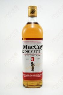MacCay & Scott 3 Years Old whiskey 750ml