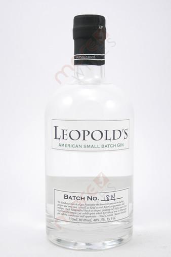 Leopold's American Small Batch Gin 750ml