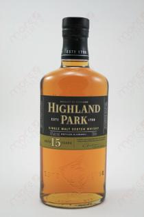 Highland Park Aged 15 Years Single Malt 750ml