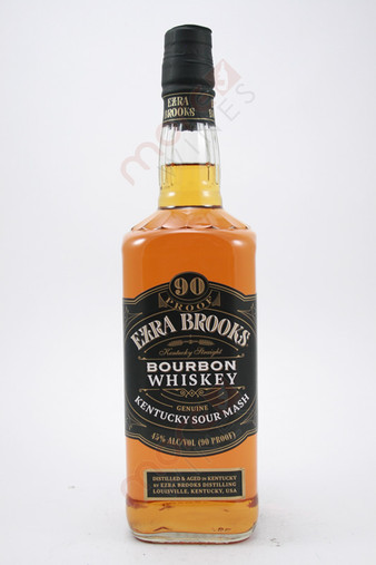Ezra Brooks Sour Mash Kentucky Straight Bourbon Whiskey 750ml