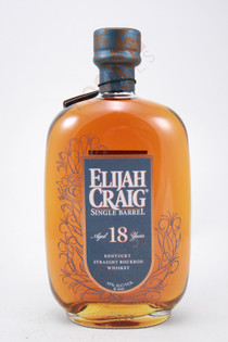Elijah Craig Single Barrel Kentucky Straight Bourbon 18 Year Old Whiskey 750ml