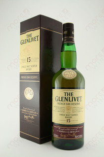 The Glenlivet French Oak Reserve Single Malt Scotch Whiskey 15 years 750ml