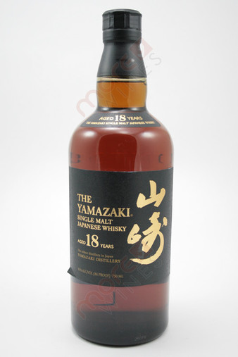 The Yamazaki 18 Year Single Malt Whisky 750ml