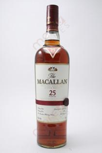The Macallan 25 Year Single Malt Highland Scotch Whisky 750ml