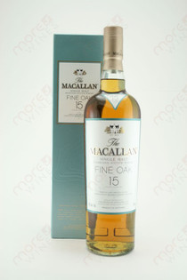 The Macallan Fine Oak 15 year Single Malt Highland Scotch Whiskey 750ml