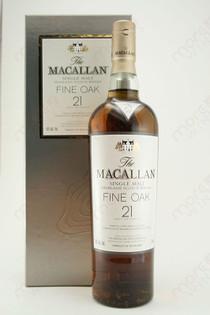 The Macallan Fine Oak 21 year Single Malt Highland Scotch Whiskey 750ml