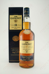 The Glenlivet 18 Single Malt Scotch Whiskey 750ml