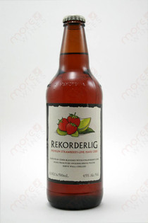 Rekorderlig Premium Strawberry-Lime Hard Cider 500ml.
