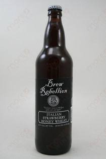 Brew Rebellion Italian Strawberry Honey Wheat 22fl oz
