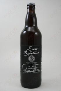 Brew Rebellion Ol' Reb Raspberry Honey Wheat 22fl oz
