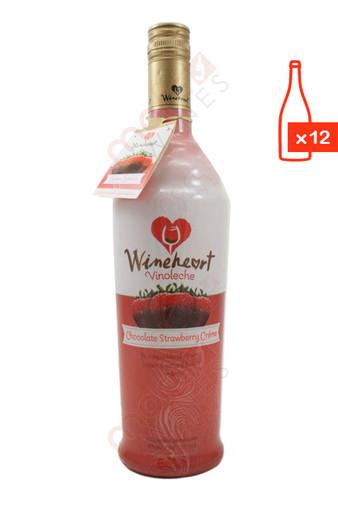 Wineheart Chocolate Strawberry Creme 750ml (Case of 12) FREE SHIP $8.99/Bottle