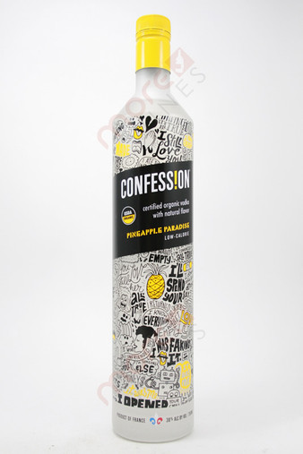 Confession Organic Pineapple Paradise Vodka 750ml