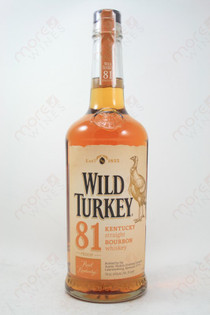 Wild Turkey 81 Proof Straight Bourbon Whiskey 750ml