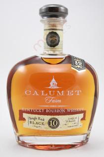 Calumet Farm Single Rack Black 10 Year Old Kentucky Bourbon Whiskey 750ml