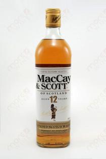 MacCay & Scott 12 Year Old whiskey 750ml