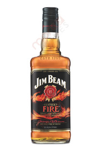 Jim Beam Kentucky Fire Cinnamon Bourbon Whiskey 750ml