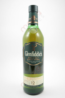 Glenfiddich 12 Year Old Whiskey 750ml