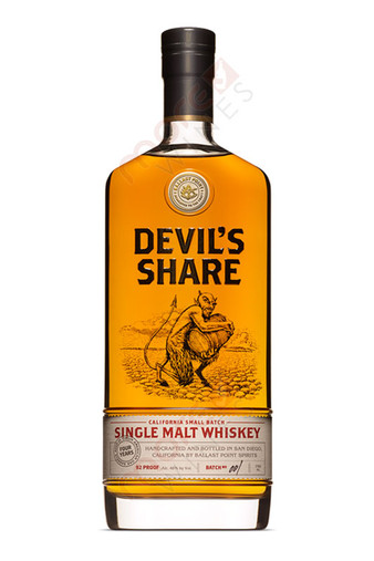 Ballast Point Brewing Company Devil's Share Small Batch Single Malt Whiskey Bottle 750ml