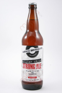 Garage Brewing Co. Belgian Style Strong Ale 22fl oz