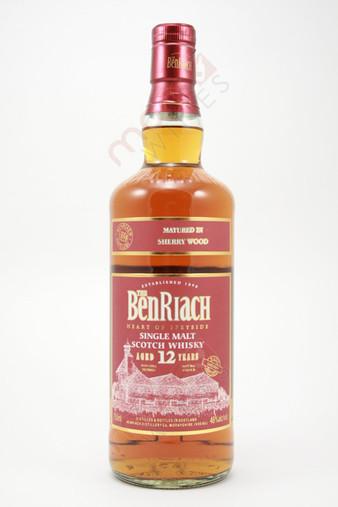 The BenRiach 12 Year Old Single Malt Scotch Whisky 750ml
