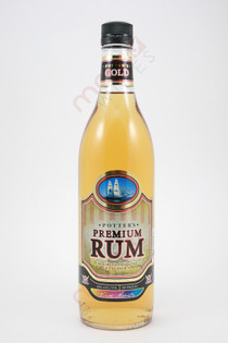 Potter's Premium Gold Rum 750ml