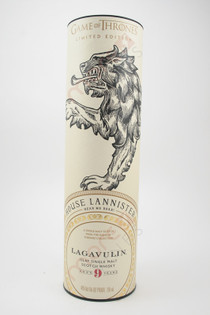 Lagavulin Game Of Thrones House Lannister 9 Year Old Single Malt Scotch Whisky 750ml box 1
