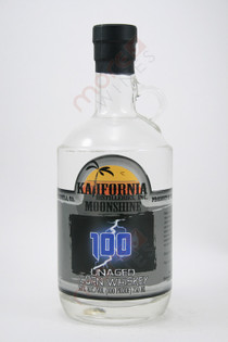 Kalifornia 100 Unaged Corn Whiskey Moonshine 750ml