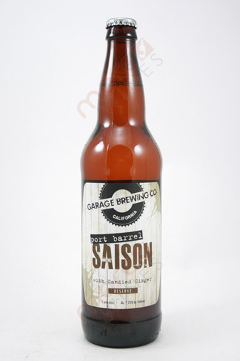Garage Brewing Port Barrel Saison With Candied Ginger 22fl oz