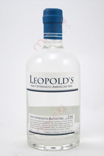 Leopold's Navy Strength American Small Batch Gin 750ml