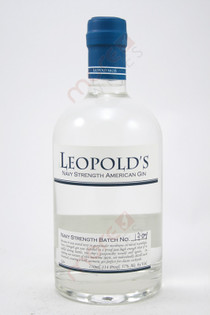 Leopold's Navy Strength American Small Batch Gin 750ml