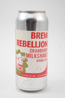 Brew Rebellion Cranberry Milkshake Double IPA 16fl oz