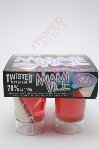 Twisted Shotz Miami Vice Strawberry Daiquri Vodka Liqueur 4 x 25ml