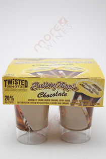 Twisted Shotz Buttery Nipple Chocolate and Butterscotch Liqueur 4 x 25ml
