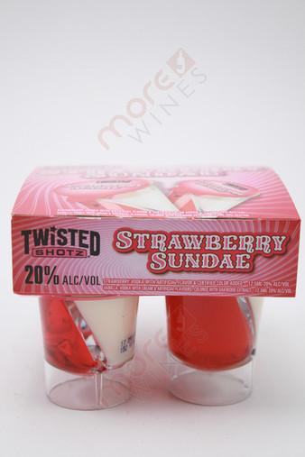 Twisted Shotz Strawberry Sundae Strawberry & Vanilla Vodka Liqueur 4 x 25ml