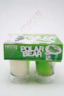 Twisted Shotz Polar Bear White Chocolate & Peppermint Liqueur 4 x 25ml