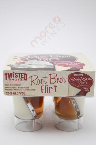 Twisted Shotz Root Beer Flirt Liqueur 4 x 25ml