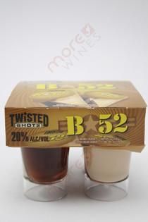 Twisted Shotz B 52 Orange and Coffee Cream Liqueur 4 x 25ml